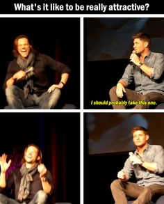 Yes, you are really attractive, Jensen!