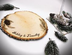 -- NEW ---  Winter wedding theme guestbook set on Etsy for only $97.99  (mention you saw us on Pinterest get a discount!)