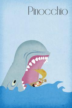 Disney Art Pinocchio Poster movie poster disney by Harshness