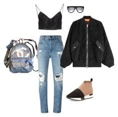 """""""Untitled #8"""" by averymorales on Polyvore featuring Chanel, Balenciaga, Alexander Wang and CÉLINE"""