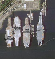 USS Independence, USS Kitty Hawk, USS Constellation and USS Ranger