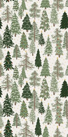 Christmas village tree iPhone pattern wallpaper