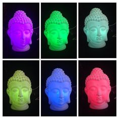 ABSOLUTELY BEAUTIFUL AND SUPER UNIQUE! COLOR CHANGING CORDLESS BUDDHA BUST LAMP.Sure to make a beautiful accent piece for a book shelf, end table or nite stand! Wonderful to be placed on your home alt