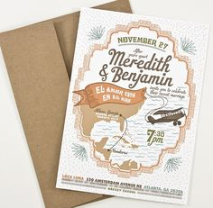 Very unique! #wedding #invite #design