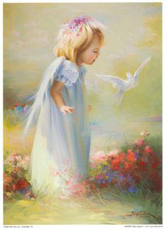 Little dove angel