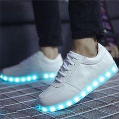 competitive price 81702 cc569 LED Schuhe in Weiß Freizeitschuhe Geschlecht  Unisex Einlegesohlenmaterial   PU Obermaterial  Leder Futtermaterial  Leinen Laufsohlenmaterial  TPR USB  ...