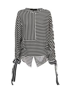 Federica Tosi Panelled Striped Blouse For the current deals on striped clothing Discount Womens Clothing, Womens Clothing Stores, Hijab Fashion, Fashion Outfits, Womens Fashion, Basic Wardrobe Pieces, Clothing Size Chart, Mode Hijab, Blouse Dress