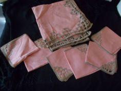 FABULOUS art deco tablecloth & 6 Napkins, glorious geometrics, Christmas ???!!!