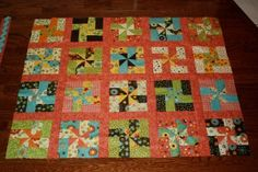 Whirly Wheels Baby Quilt