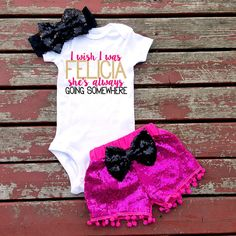 I Wish I Was Felicia Baby Girl Bodysuit Baby by GLITTERandGLAMshop