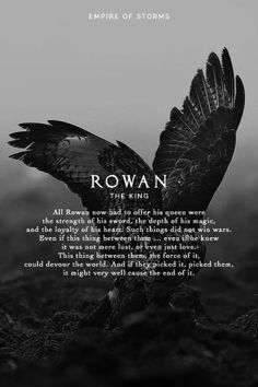Empire of Storms - Rowan [Spoilers] Maybe something for https://Addgeeks.com ?