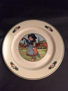 For Sale: Hansi D'Alsace by Villeroy & Boch plate #3331 - Item posted in the Antiques & Collectibles category