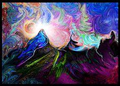 Art psychédélique Home Decor peinture murale par XNihiloCreative