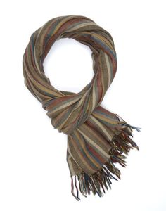 Handwoven 'Woodland Twill' Handloom Cotton Eco-Friendly Scarf - pinned by pin4etsy.com