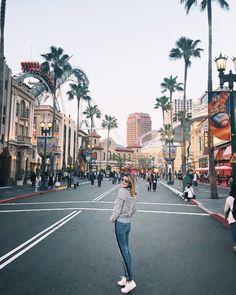 """A hora de ir embora é sempre muito difícil haha!  """"Los Angeles"""" dentro da Universal é demais!"""