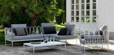 Fleurs sofa and armchair by Unopiù  #sofa armchair #outdoor #unopiu