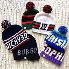 Beanies, Knitted Hats, Winter Hats, Club, Group, Knitting, Fashion, Moda, Tricot