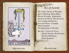 Ace of Swords: Inspiration, Moment of Clarity, Sharp Mind Sagittarius Astrology, Capricorn Traits, Love Canvas Painting, Divine Tarot, Ace Of Swords, Tarot Cards For Beginners, Baby Witch, Tarot Card Meanings, Tarot Spreads