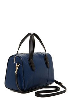 Cole Haan Cara Embossed Weave Leather Dome Satchel