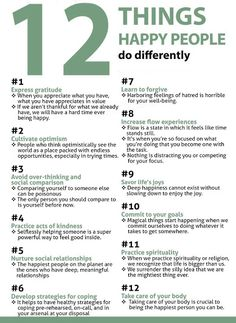 12 Things happy people do differently: #11 Practice spirituality.  The Reiki principles are embedded in #1-12!