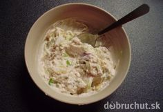 Vynikajúci dip na pečené zemiaky Czech Recipes, Ethnic Recipes, Tzatziki, Pesto, Chutney, Ham, Mashed Potatoes, Grilling, Oatmeal