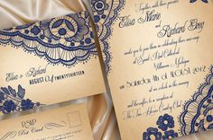 PRINTABLE WEDDING INVITATIONS Lace  Bellevue by DesignedWithAmore, $18.00