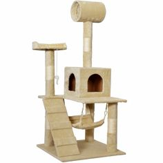SpkPet 55' Cat Tree Tower Hammock House Condo Furniture Kitten Pet Scratcher Post Toy Scratch New Play Bed (With Sketch Journal Book) *** Check this awesome product by going to the link at the image. (This is an affiliate link and I receive a commission for the sales)