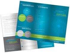 Identidad corporativa/Branding - Diseño editorial - Stop Diseño Gráfico - Diseño de tríptico para Clínica Psicológica Bienestar Integral.