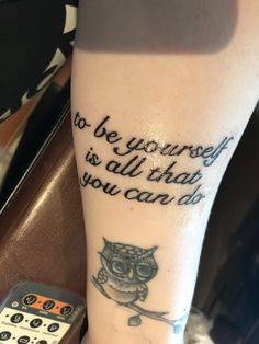 """My new audioslave tattoo in memory of Chris Cornell. """"be yourself"""" by audioslave"""