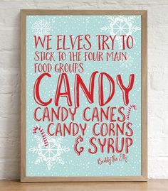 Elf Quotes Candy Cane Forest Buddy The Elf Quote Tile Coaster Great Gift