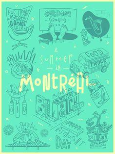 "Julien Roudaut ""Summer in Montreal"" on Behance"