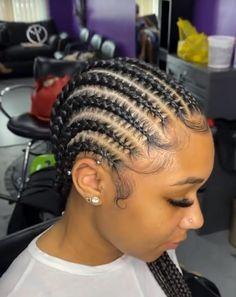 Cornrows Natural Hair, Braided Cornrow Hairstyles, Big Box Braids Hairstyles, Hair Ponytail Styles, Braids Hairstyles Pictures, Faux Locs Hairstyles, Dope Hairstyles, Braided Hairstyles For Black Women, African Braids Hairstyles