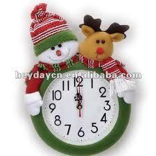 Resultado de imagen para muñecos de navidad Christmas Clock, Christmas Sewing, Christmas Fabric, Christmas In July, Christmas Projects, Xmas, Holiday, Christmas Ideas, Snowman Crafts