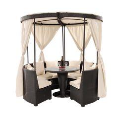 El Dorado Furniture Coco Island Black Gazebo Backyard Outdoor Pizza Ovens