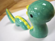 Sea Monster Ceramic Snake Dragon by ColorMeClayful on Etsy, $16.00