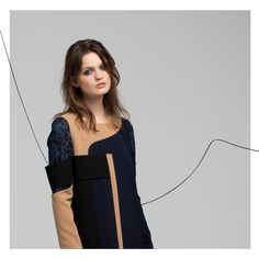 #fashion #dress #aw #autumnwinter #collection #lookbook #photography #fashionphotography #model #camel #navyblue #pattern #lines