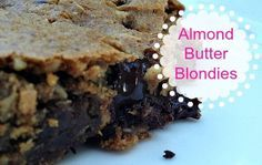 Filling, delicious and super easy to throw together and bake. My kids often want a treat after school, and because this recipe is full of protein and healthy fat, I often serve these almond butter blondies with a tall glass of cold, raw milk.
