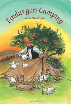Pettson imagines camping by the lake, sitting by the fire as the sun sets. But when Findus goes camping, it turns out a bit different!
