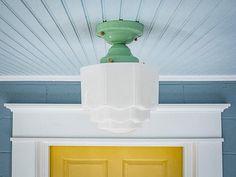 Vintage Rewired Semi Flush Mount Ceiling Light Fixture Art