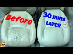 How to Repair Leather Car Seats. If you've got a tear, hole, or crack in your leather car seat, you may be wondering whether you need all new upholstery. Fortunately, you can repair small amounts of damage by yourself. Fix tears with a. Diy Leather Repair, Leather Furniture Repair, Leather Car Seat Repair, Leather Seats, Clean Cloth Car Seats, Cleaning Leather Car Seats, Diy Leather Car Seat Cleaner, Leather Restoration, Best Car Seats