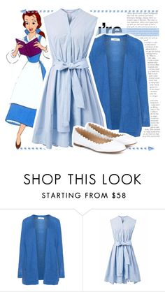 """belle disneybound for @katetagt1 !!"" by amberdocherty ❤ liked on Polyvore featuring Zizzi, Disney, Chicwish, Chloé, disney, belle, disneybound and BeautyandtheBeast"