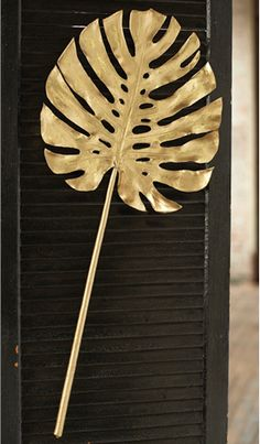 Gold Monstera Leaf- Set of 6