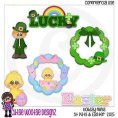 2015 Holiday Minis St Patricks Day  Easter by CutsieWootsieDesignz