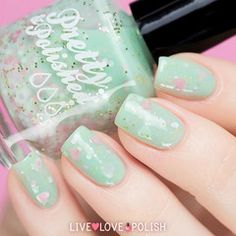Swatch of Pretty & Polished My Best Invest-mint Nail Polish