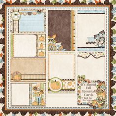 Its Almost Fall Journal Cards