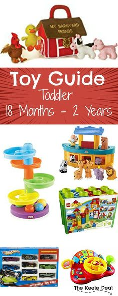 Toy gift ideas for toddlers 18 months - 2 years. My Favorite is #11! Looking for gift ideas for a young toddler? My son is 18 months old and the toys on this list are either toys he loves to play with or toys I think he would love (and might get). Most of