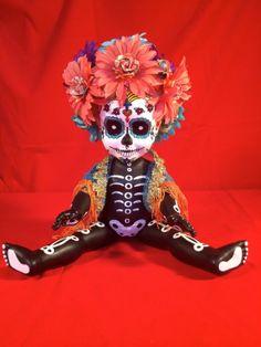 Kay Sadeeya  is a OOAK  Day of the Dead baby by TheHeebieJeebiez, $125.00