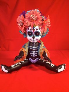 Kay Sadeeya  is a OOAK  Day of the Dead baby by TheHeebieJeebiez, $125.00