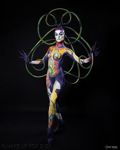 Body Painting Academy Final 2011/12 by Sophie E, Désillusion Organique, 2nd Prize