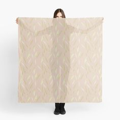 """""""Simple neutral colour leaves"""" Scarf by Mandsred1 